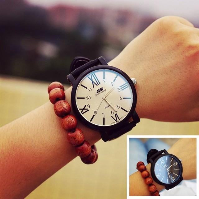 114c3d7717 腕時計 リストウォッチ メンズ レディース ウォッチ 時計 カップル ユニセックス アナログ ビックフェイス ローマ文字 シンプル