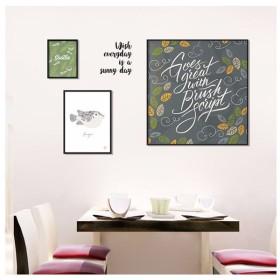 ウォールステッカー ウォールシール ポスター風 カフェ風 北欧風 イラスト ロゴ フグ 額縁 壁シール 壁紙シール 壁面装飾 壁装飾 室内装飾 インテ