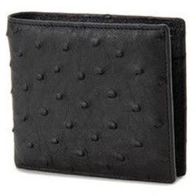 ロダニア RODANIA オーストリッチ 折財布 OJN1005B-BK ブラック