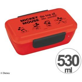 お弁当箱 ミッキーマウス ミッキーチアフル スタイリッシュランチボックス 1段 530ml ( 弁当箱 ランチボックス ドーム型 )