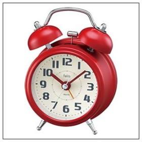 NOA ノア精密 クロック FEA170-R-Z 目覚まし時計 置時計 Felio フェリオ ツインベルクロック タルト レッド