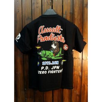 PANDIESTA JAPAN パンディエスタ 588050 TYPE-ZERO S/S TEE 零戦パンダTシャツ