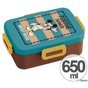 ■在庫限り・入荷なし■お弁当箱 ミッキーマウス バッジコレクション 4点ロックランチボックス 1段 650ml キャラクター ( 食洗機対応 弁当箱 4点ロッ