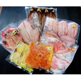 茨城県 大洗海鮮 金目鯛開き・キンキ開き・赤魚開き・赤魚粕漬け・サワラ西京漬け・カジキ味噌漬け・サバ西京漬け