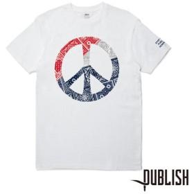 【PUBLISH BRAND/パブリッシュブランド】PEACE  Tシャツ / WHITE