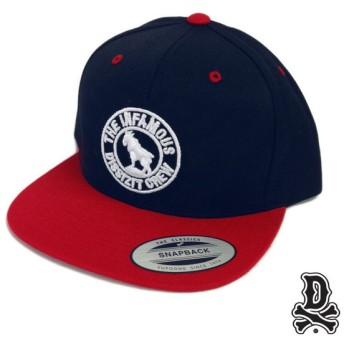 【DISSIZIT/ディスイズイット】INFAMOUS GOAT SNAPBACK CAP スナップバックキャップ / NAVY/RED