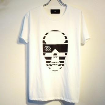 サングラススカル CQスワロフスキー Tシャツ / White