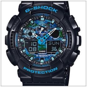 【レビュー記入確認後10年保証】CASIO カシオ 腕時計 国内正規品 GA-100CB-1AJF G-SHOCK ジーショック ブラック ブルー カモフラージュ クオーツ メンズ