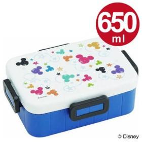 ■在庫限り・入荷なし■お弁当箱 4点ロックランチボックス 1段 ミッキーマウス カラフルクレヨン 650ml