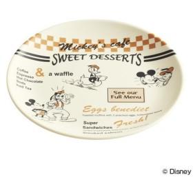 ■在庫限り・入荷なし■パン皿 ミッキーマウス ミッキーズカフェ メラミンパン皿 19cm ( お皿 食器 割れにくい )