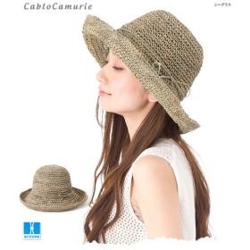 帽子 レディース シンプル つば広 麦わら