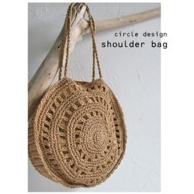 バッグ 手提げ 麦わら ペーパー 鞄 麦わらデザインバッグ・再再販。##メール便不可