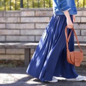 どちらも本当に使えるんです。リバーシブルロングスカート・再再販。『着回し力のリバーシブルスカート。』」##メール便不可