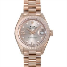 ロレックス レディ デイトジャスト28 9P/IXダイヤ プレジデントブレス 279175G サンダスト 新品 レディース 腕時計