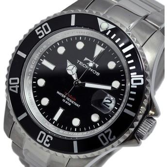 テクノス TECHNOS クオーツ メンズ 腕時計 T4323IB ブラック/ブラック