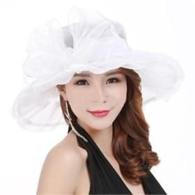 レトロ 女性 レディース おしゃれ 帽子 大きいつば ハット エレガント 9カラー リボン 薄め お呼ばれ ピンク ブラック ブルー ファッション小物