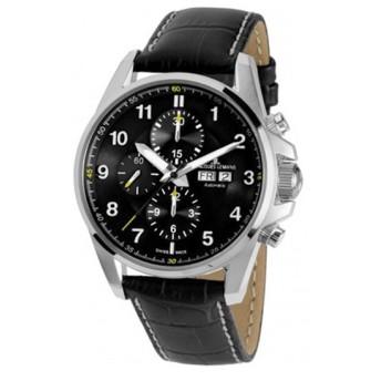 ジャックルマン Liverpool 自動巻き メンズ クロノ 腕時計 1-1750A ブラック