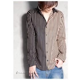 シャツ ストライプ 綿 綿100% コットン ストライプシャツ・再再販。「G」(50)メール便可