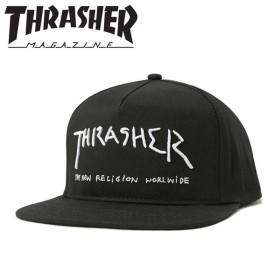スラッシャー スナップバックキャップ NEW RELIGION ブラック THRASHER