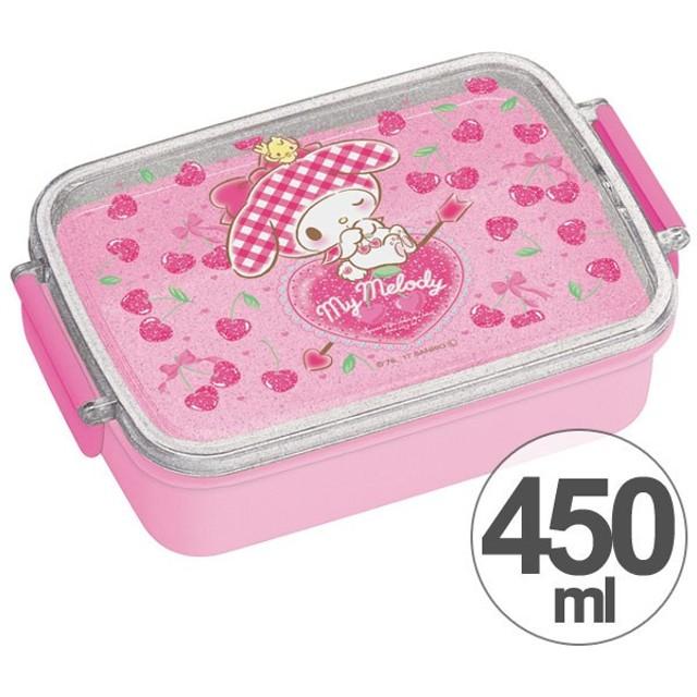 お弁当箱 角型 マイメロディ ハートチェリー 450ml 子供用 キャラクター ( タイトランチボックス 食洗機対応 弁当箱 )
