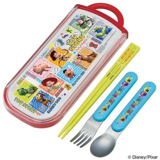 トリオセット 箸・フォーク・スプーン トイ・ストーリー スライド式 キャラクター  ( 食洗機対応 子供用お箸 カトラリー )