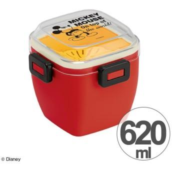 4点ロック サラダランチボックス ミッキーマウス 620ml ミッキーチアフル ( 弁当箱 ランチボックス どんぶり )