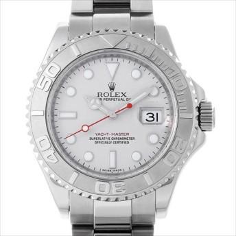 48回払いまで無金利 ロレックス ヨットマスター ロレジウム 16622 シルバー V番 中古 メンズ 腕時計