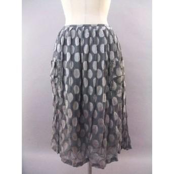 花柄のような模様のジョーゼットスカート(Vanilla)