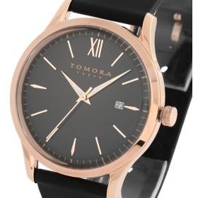 トモラ TOMORA TOKYO ラバーベルト クオーツ メンズ 腕時計 T-1605-PBK ブラック