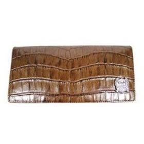 ロメオジリ ROMEO GIGLI  クラッシュクロコ型押し長財布 G57021 BR ブラウン