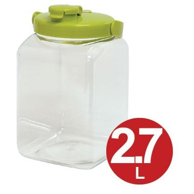 果実酒ビン 保存容器 角型 2.7L プラスチック製 ( 果実酒 酵素 保存瓶 保存ビン びん )