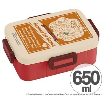 お弁当箱 くまのプーさん バッジコレクション 4点ロックランチボックス 1段 650ml キャラクター ( 食洗機対応 弁当箱 4点ロック式 )