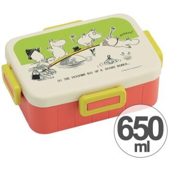 お弁当箱 ムーミン パレット 4点ロックランチボックス 1段 650ml キャラクター ( 食洗機対応 弁当箱 4点ロック式 )