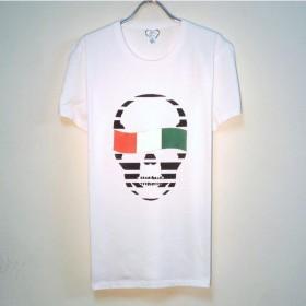 Skull Italy Flag T-shirt white