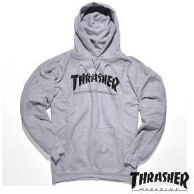 【THRASHER/スラッシャー】SKATE MAG HOODED SWEATSHIRT パーカー / GRY