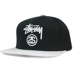 ステューシー スナップバックキャップ ストック ロック ロゴ ブラック ホワイト STUSSY