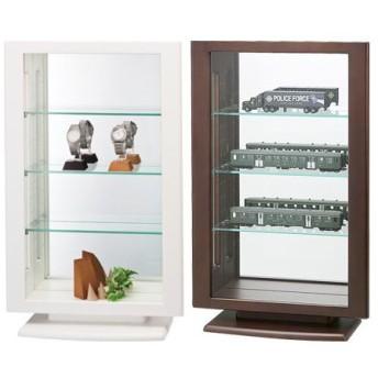 コレクションケース カルトーネ 幅40×高さ63cm 背面ミラー コンパクト ( ボード ラック ボックス キャビネット ディスプレイ ガラス 鏡 フィギュア )