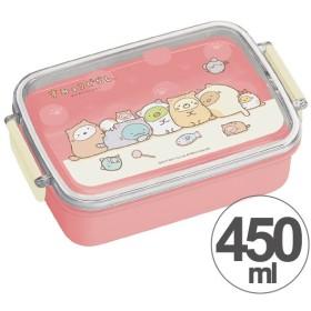 お弁当箱 角型 すみっコぐらし ぽかぽかねこびより 450ml 子供用 キャラクター ( タイトランチボックス 食洗機対応 弁当箱 )