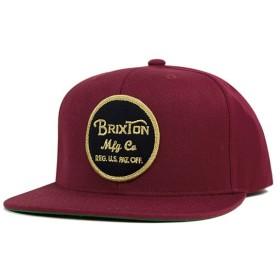 ブリクストン スナップバックキャップ ウィーラー バーガンディー 帽子 [返品・交換対象外]