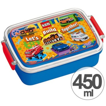 ■在庫限り・入荷なし■お弁当箱 角型 トミカ 450ml 子供用 キャラクター ( タイトランチボックス 食洗機対応 弁当箱 )