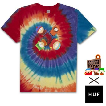 【HUF/ハフ×SOUTH PARK/サウスパーク】TRIPPY TIE DYE SS TEE Tシャツ / RNBOW