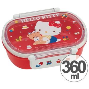 お弁当箱 小判型 ハローキティ 80's 360ml 子供用 キャラクター ( 弁当箱 食洗機対応 ランチボックス プラスチック製 )