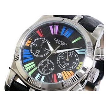 COGU コグ 腕時計 時計 クロノグラフ メンズ C1718-BCL