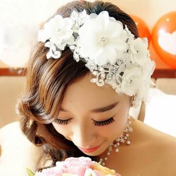 ヘアアクセサリー 髪飾り ヘッドドレス 花 フラワー フェイクパール ブライダル 結婚式 レディース 女性 おしゃれ キレイ 上品 キュート パーティ