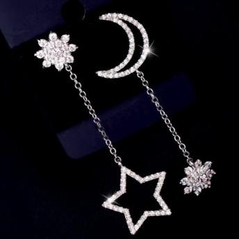 ピアス 星 月 フラワー ストーン アクセサリー ジュエリー 女性 レディース おしゃれ 上品 かわいい キュート きれい キラキラ ファッション小物