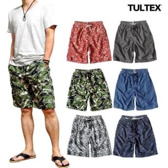 TULTEX 海水パンツ 海パン スイムウェア 水着 男性用 メンズ トランクス おしゃれ 大きいサイズ サーフ パンツ TULTEX 派手 総柄 プリン ト