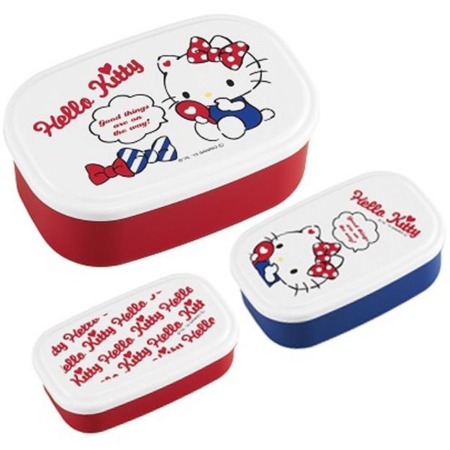 お弁当箱 シール容器 ハローキティ No.3 3個入 子供用 キャラクター ( 弁当箱 ランチボックス 保存容器 )