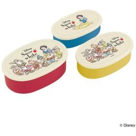お弁当箱 シール容器 白雪姫 3個入り キャラクター レディース ( ランチボックス 保存容器 弁当箱 )