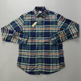 【FINAL SALE】J.CREW / ジェイクルー / ウォッシュドフランネルワークシャツ スリムフィット / オーバーキャストブルー