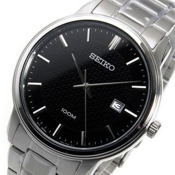 セイコー SEIKO クオーツ メンズ 腕時計 SUR195P1 ブラック